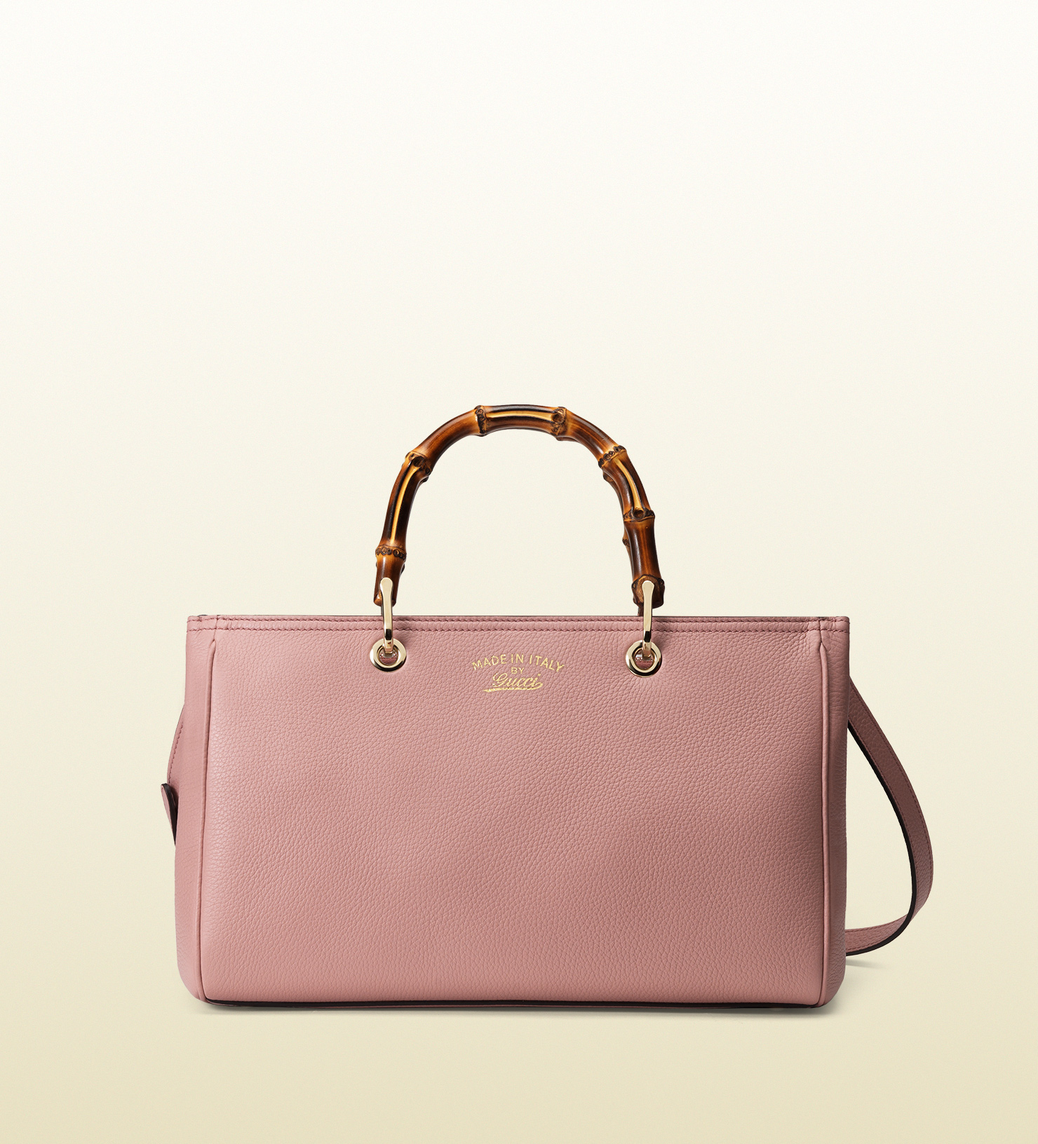 a988eff5cc08 Gucci Bamboo Shopper Leather Tote in Pink - Lyst