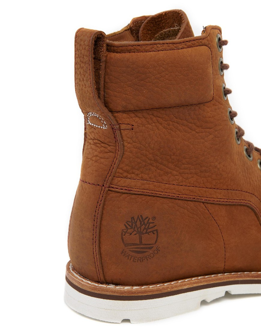 Timberland Earthkeepers Rugged Plain Toe Boots In Brown