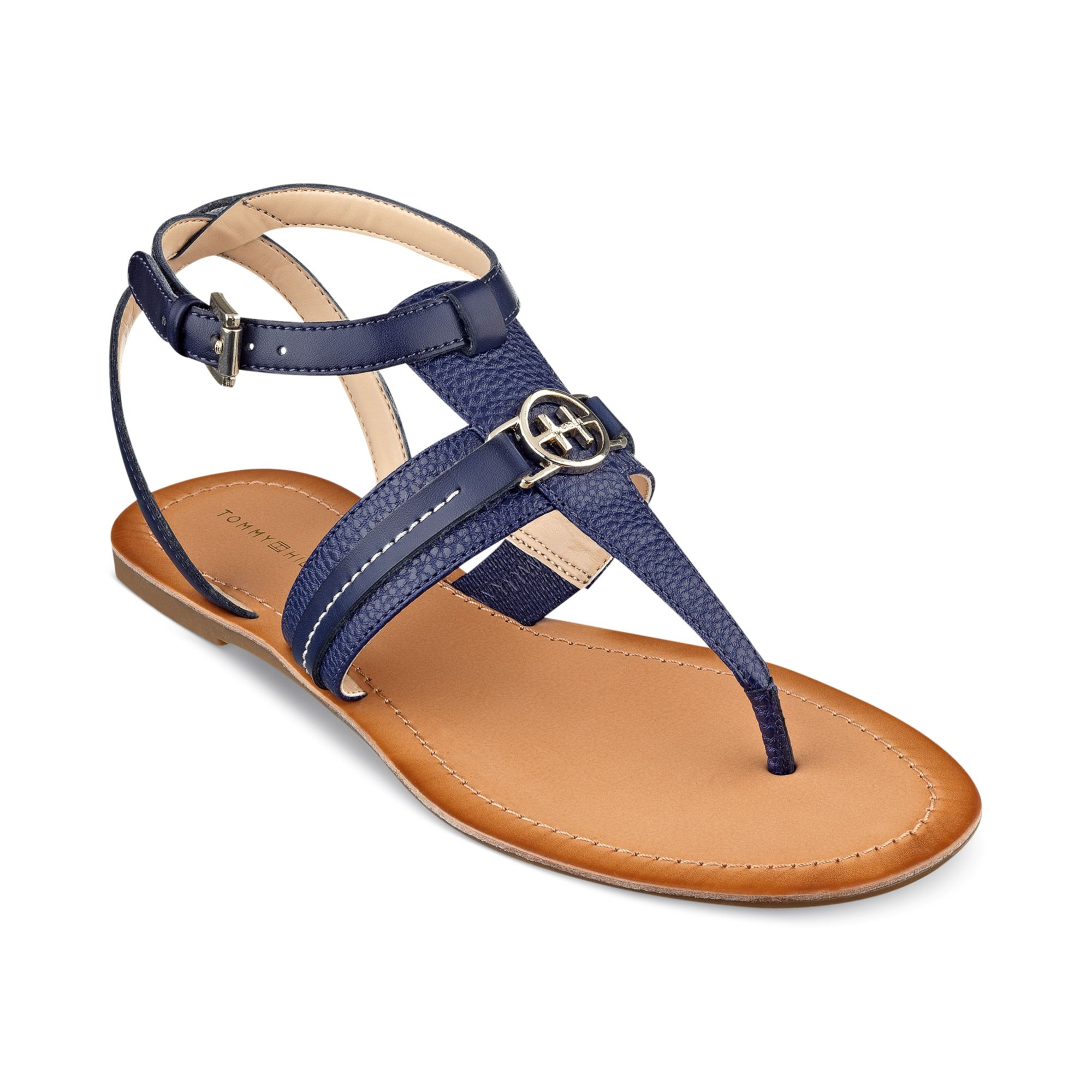 4f8aed046 Tommy Hilfiger Womens Lorine Flat Thong Sandals In Blue (King Blue)