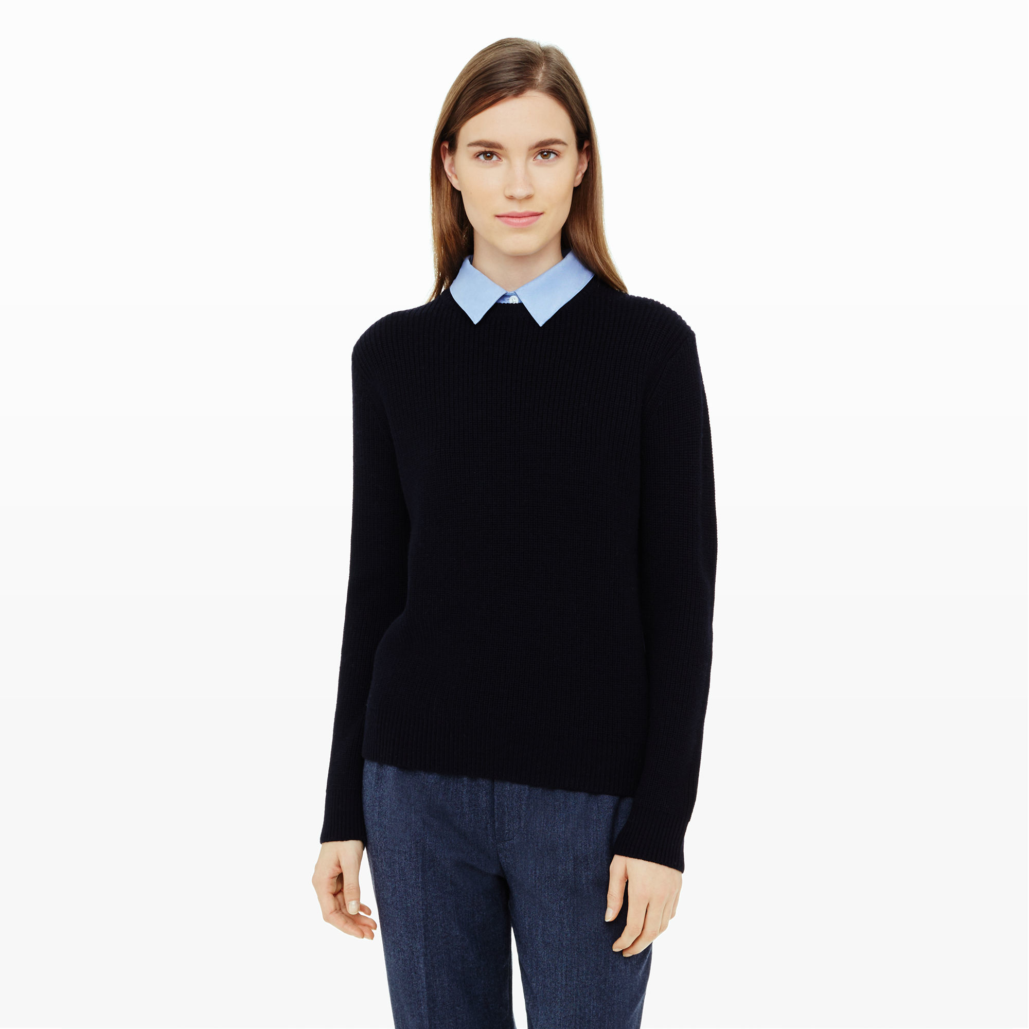 Club monaco Ramira Collared Sweater in Blue | Lyst