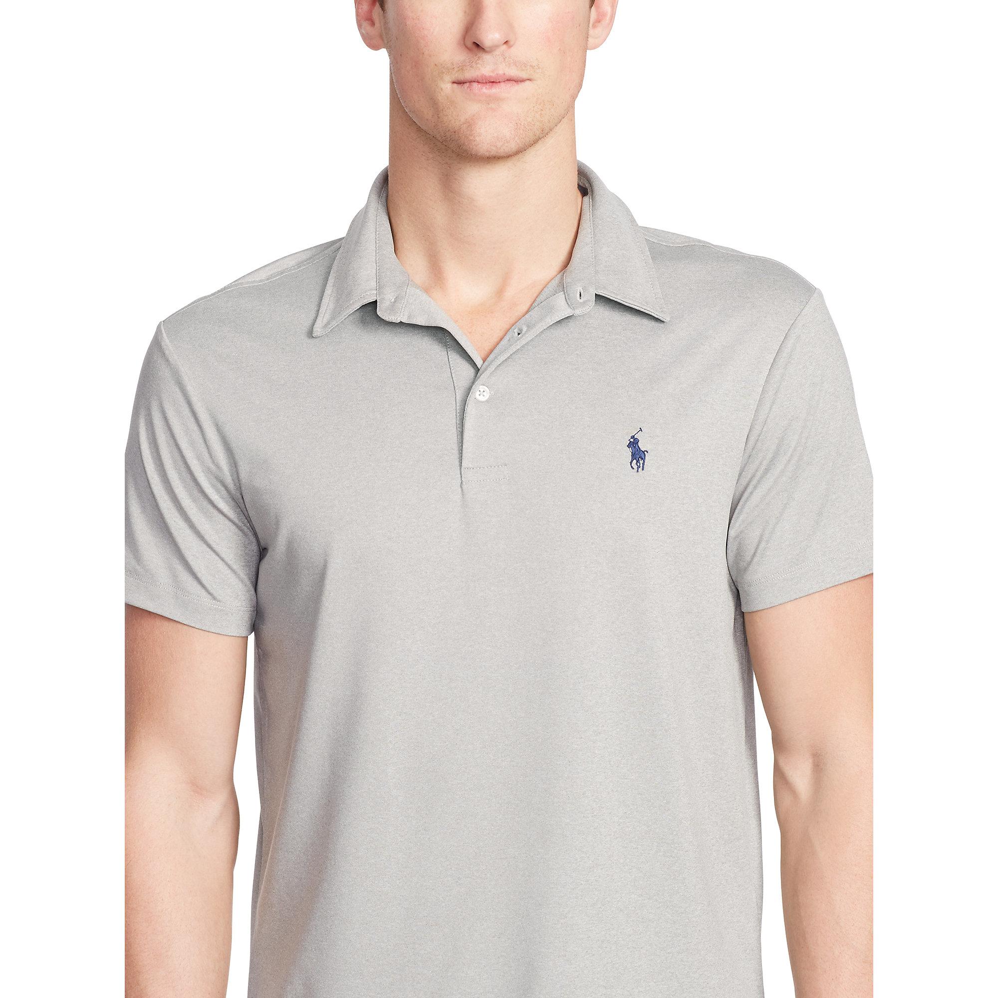 9f1676e30 Lyst - Polo Ralph Lauren Custom-fit Performance Polo in Gray for Men