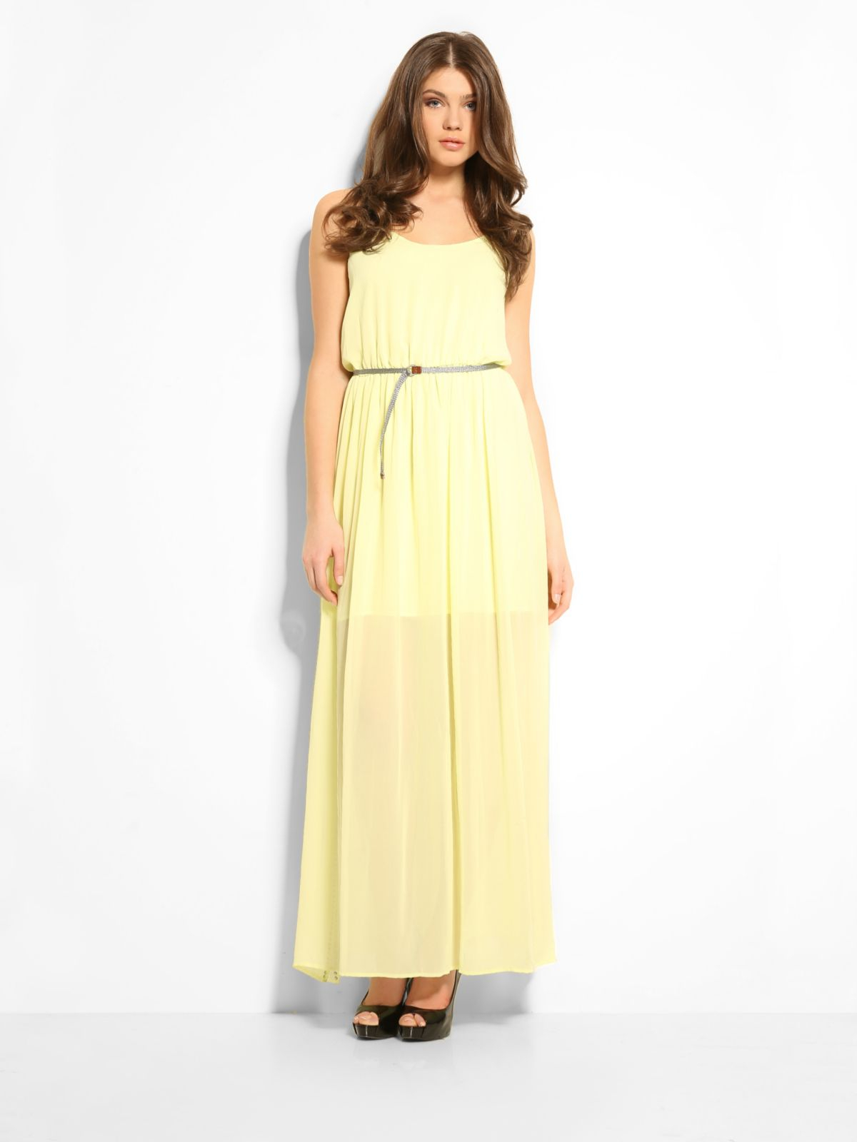 Guess abella dress in yellow lyst for Guess dresses for wedding