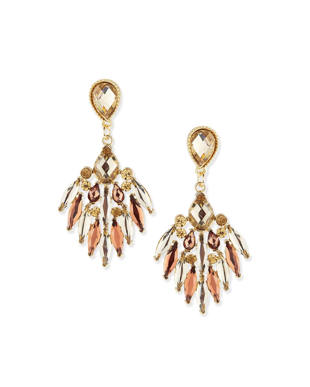 Lyst Jules Smith Crystal Chandelier Earrings In Metallic