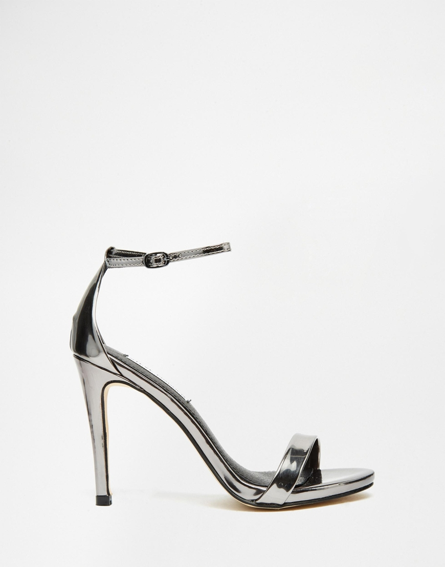 abd2cd032b7 Lyst - Steve Madden Stecy Two Part Pewter Part Sandals in Gray