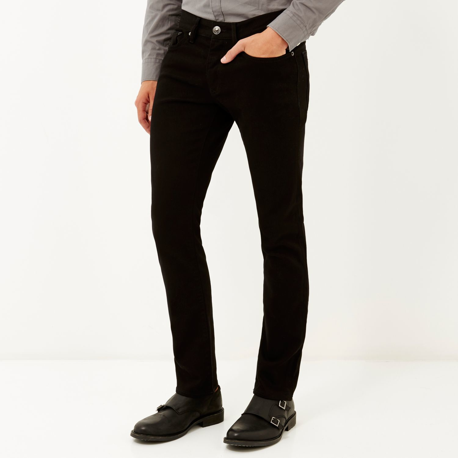 River island Stay Black Dylan Slim Jeans in Black for Men | Lyst