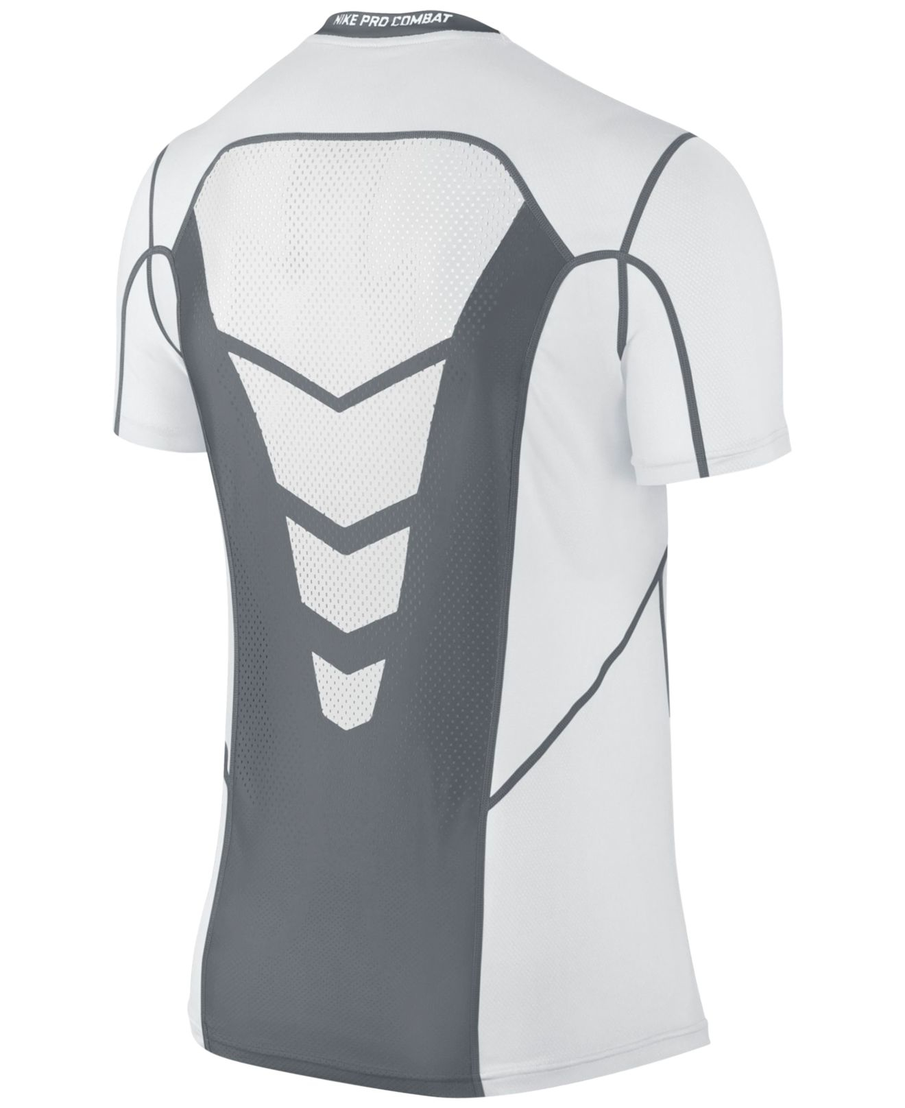 Lyst nike fitted hypercool dri fit t shirt in white for men for Dri fit dress shirts