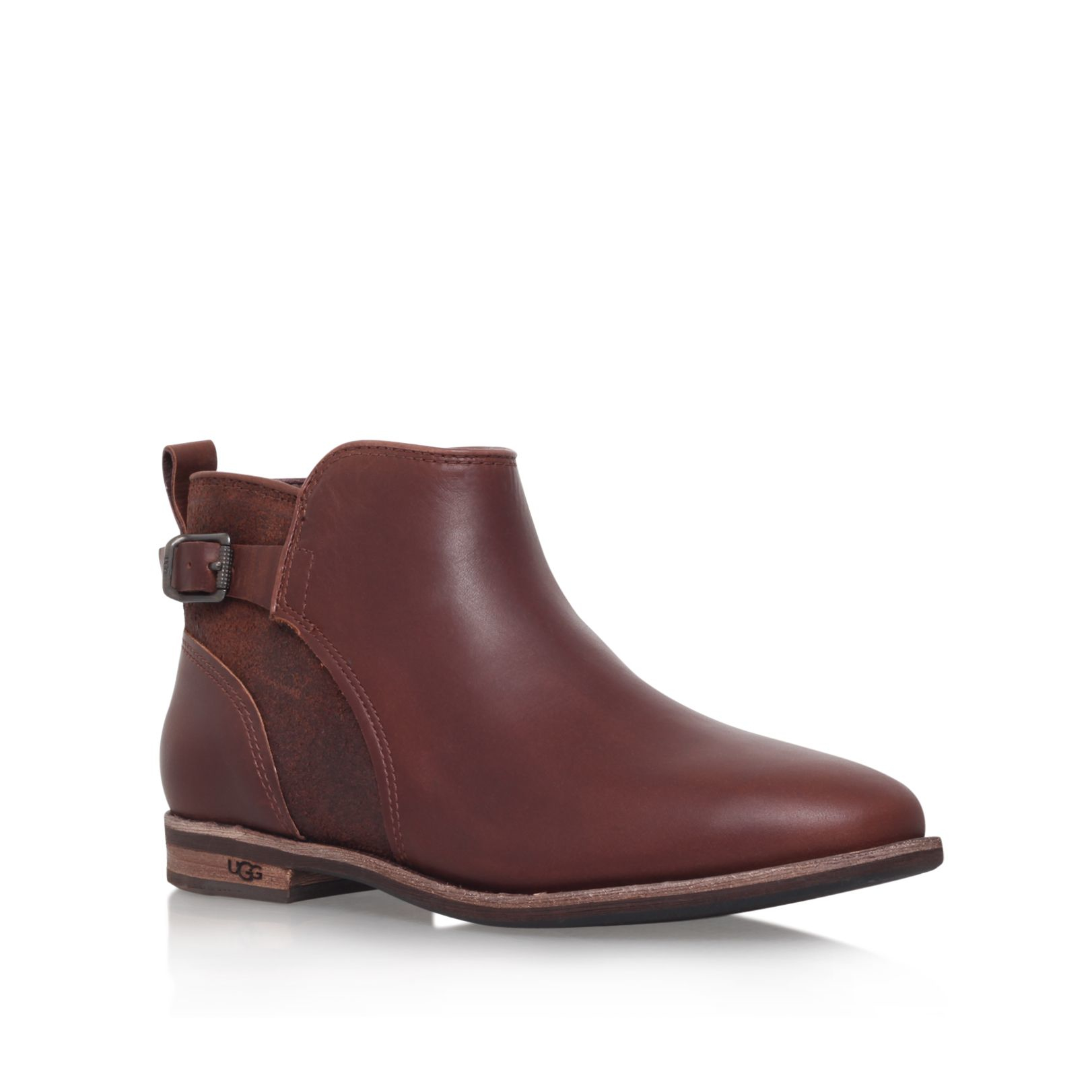 Ugg Demi Flat Ankle Boots in Brown | Lyst