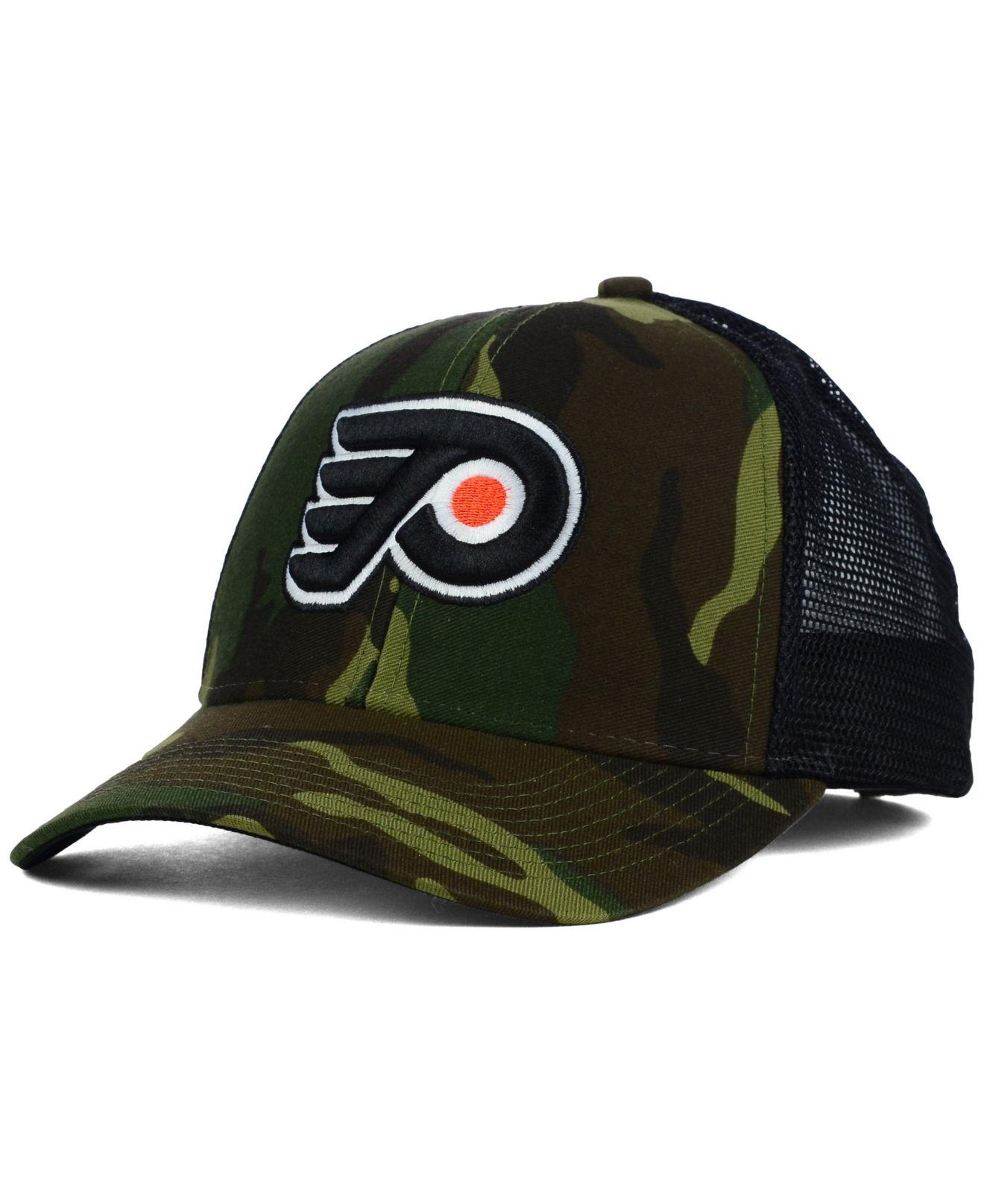 Lyst - Reebok Philadelphia Flyers Camo Trucker Cap in Green for Men b416bb877ff
