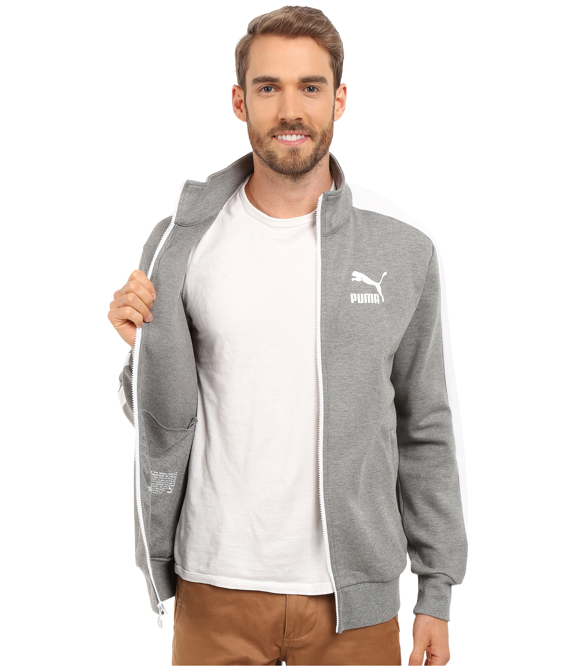 c83be2fd9425 Lyst - PUMA Archive T7 Track Jacket in Gray for Men