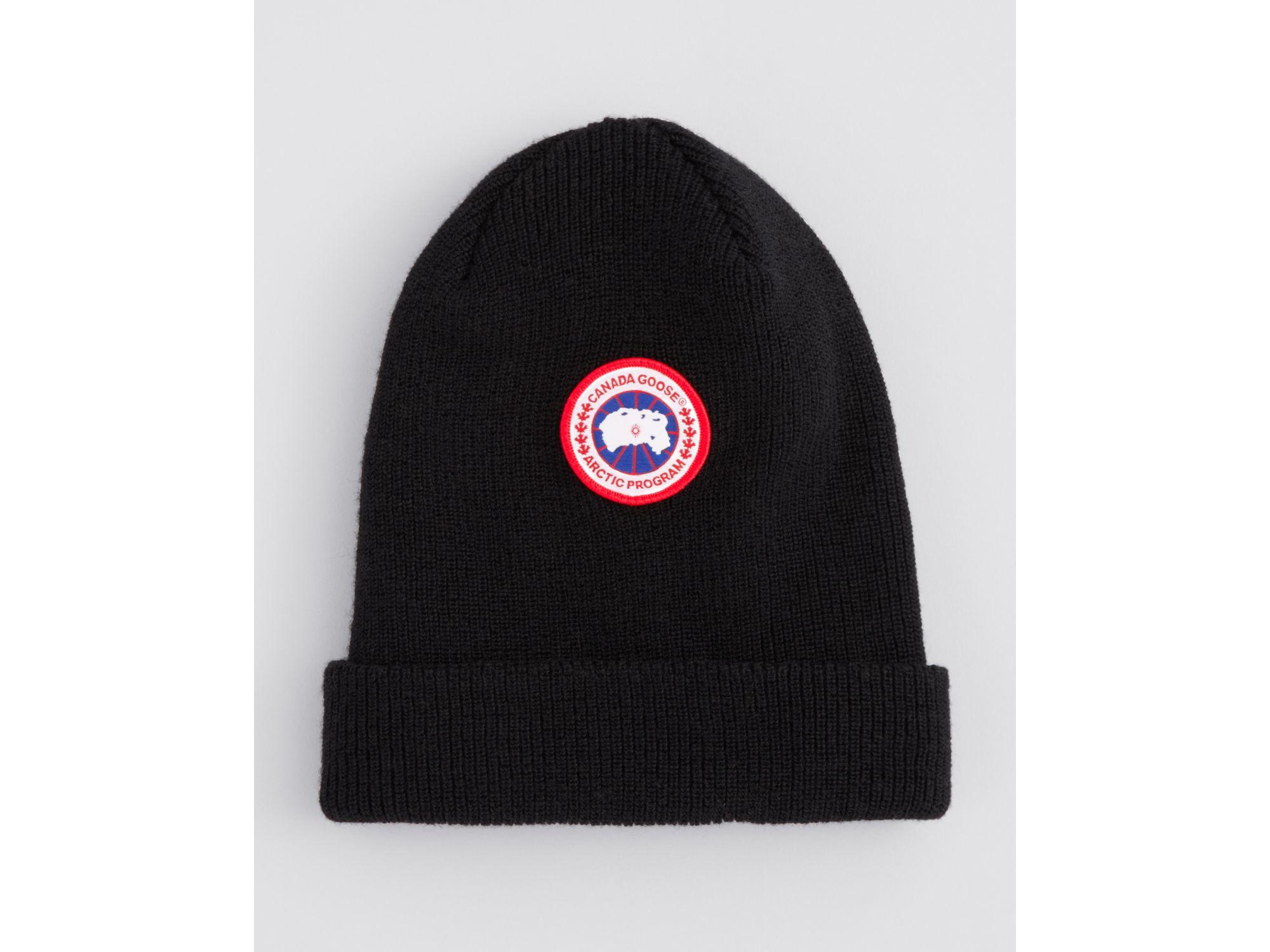 Lyst - Canada Goose Merino Wool Watch Cap in Black for Men 7617c5873ea