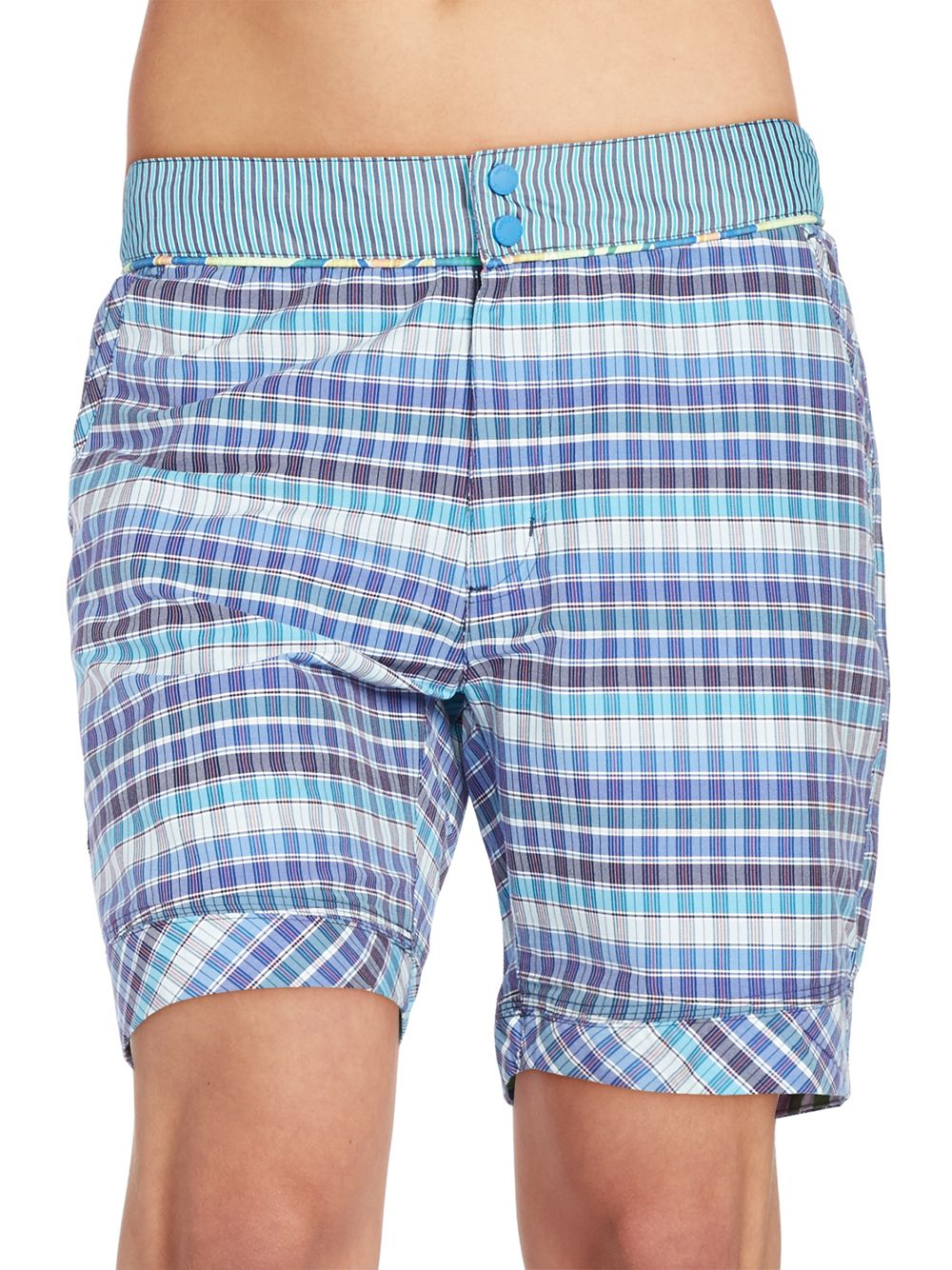 cdc1d6a8a9 Robert Graham Tonga Swim Trunks in Blue for Men - Lyst