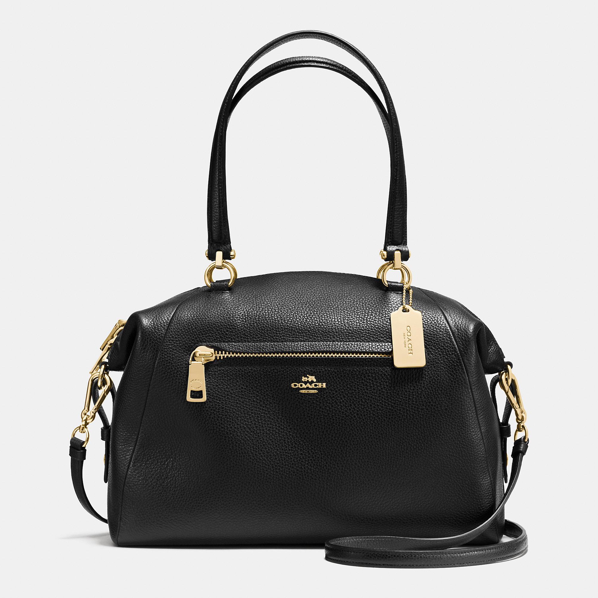 Lyst Coach Prairie Satchel Bag In Leather In Black