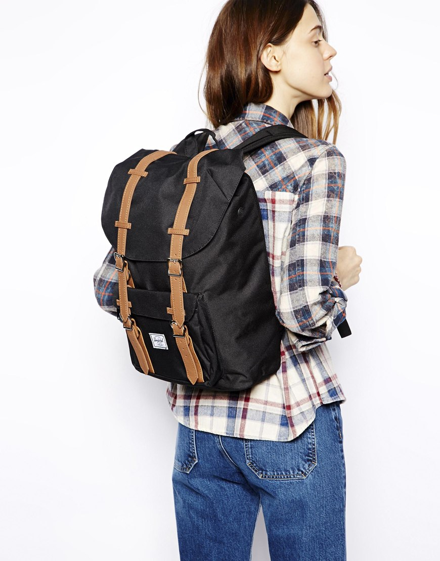 80f6d8ddfa96 Herschel Supply Co. Little America Backpack Mid Volume in Black - Lyst