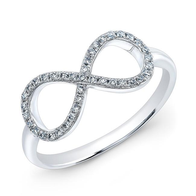 sisteron 14kt white gold large infinity ring