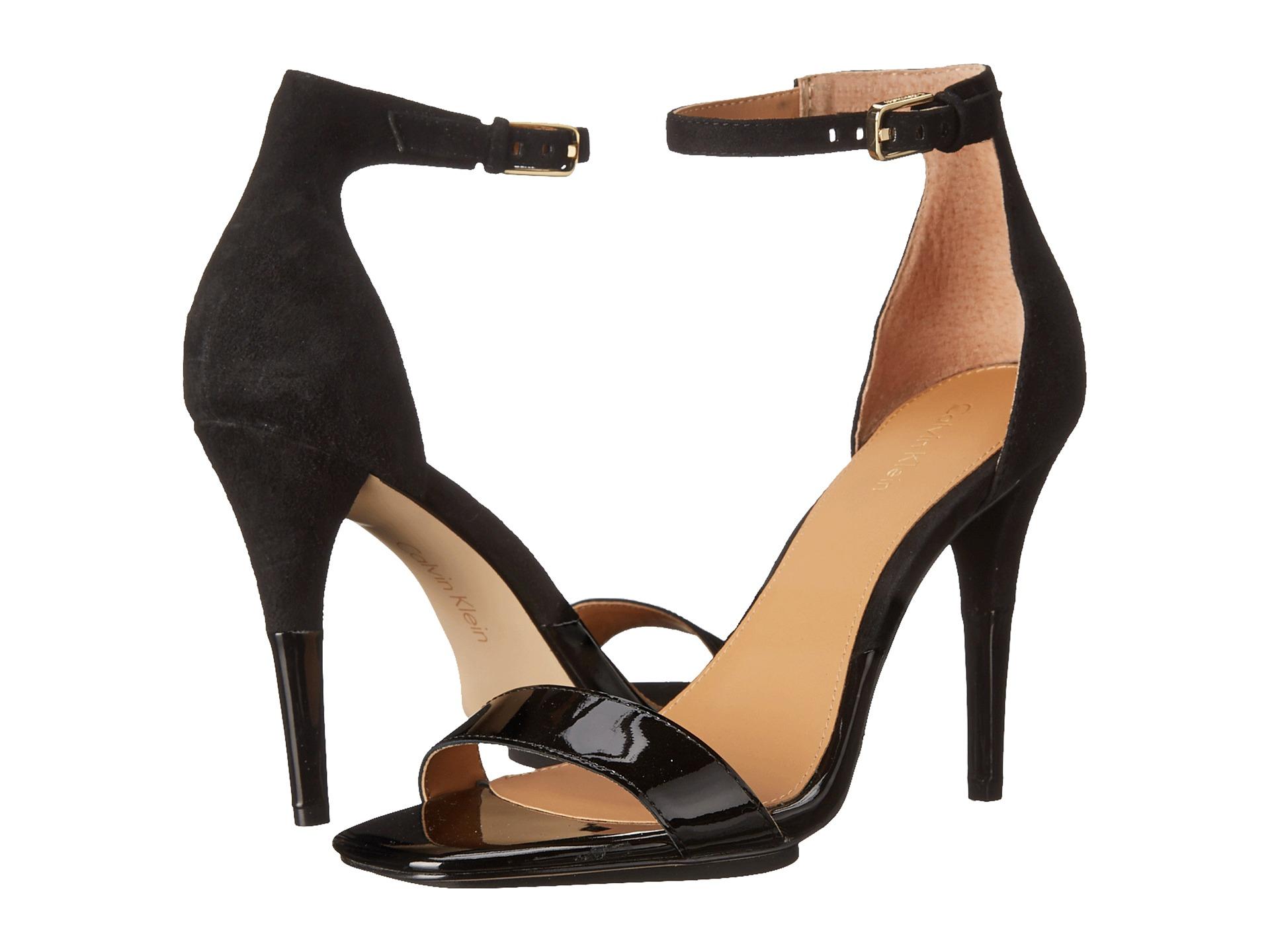 Womens Shoes Calvin Klein Shanti Black Patent/Kid Suede