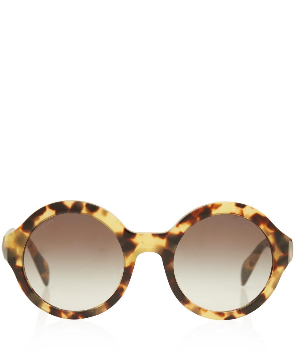 060bafd2840e ... italy lyst prada tortoiseshell oversized round frame acetate sunglasses  a5fc5 1a950