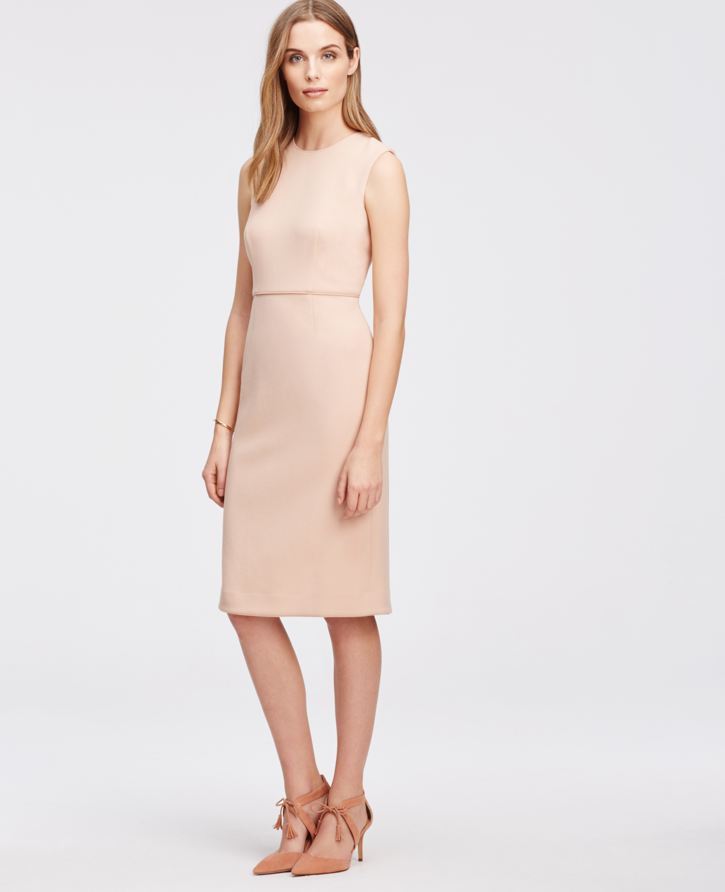Lyst - Ann Taylor Sleeveless Piped Sheath Dress in Pink