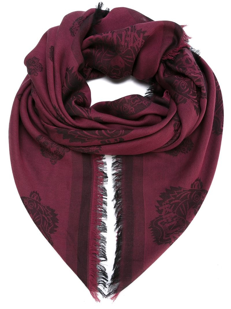 Lyst Kenzo Tiger Scarf In Red For Men