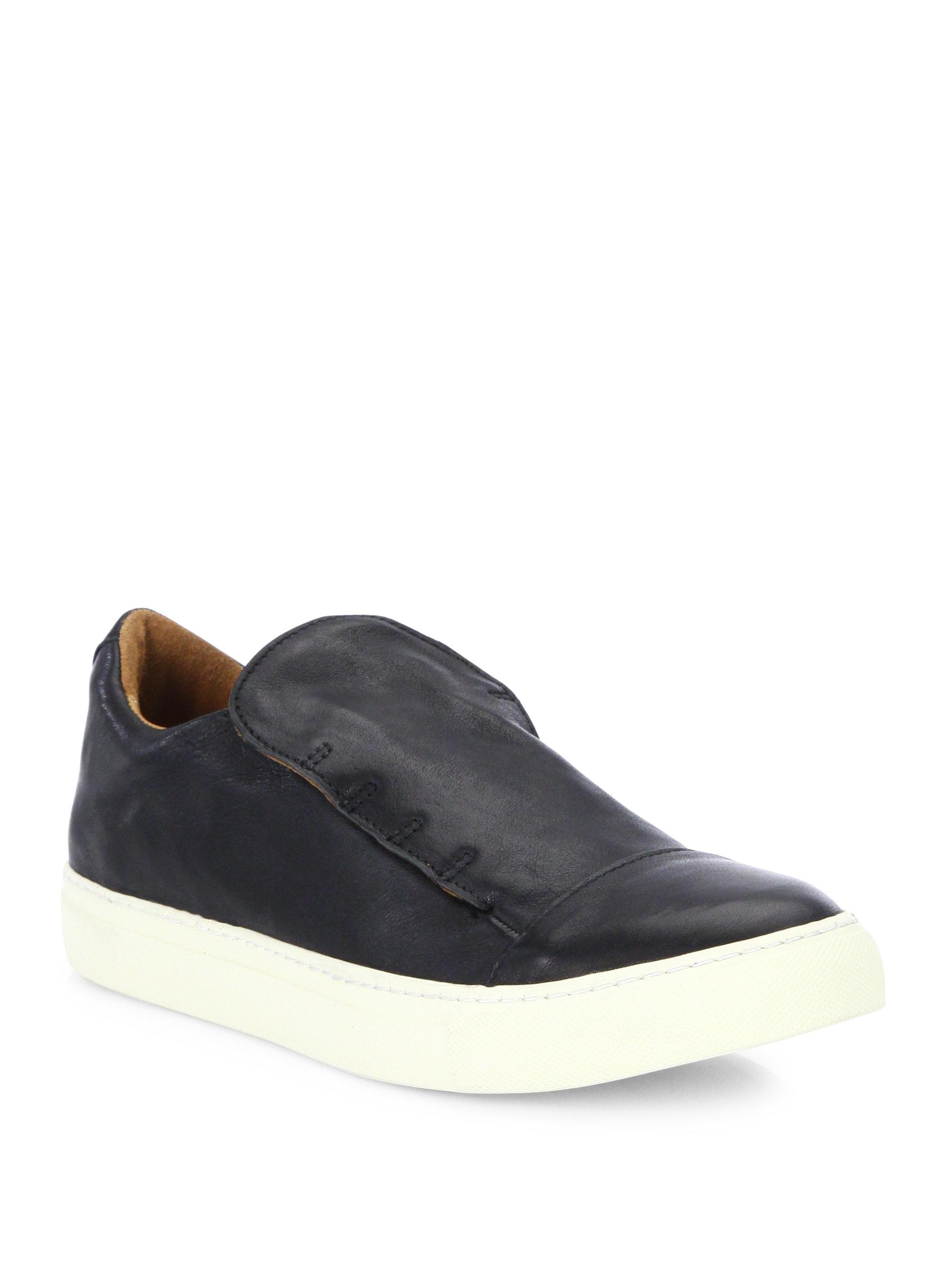 John VarvatosReed Laceless Calfskin Low Sneakers KzzTZPp