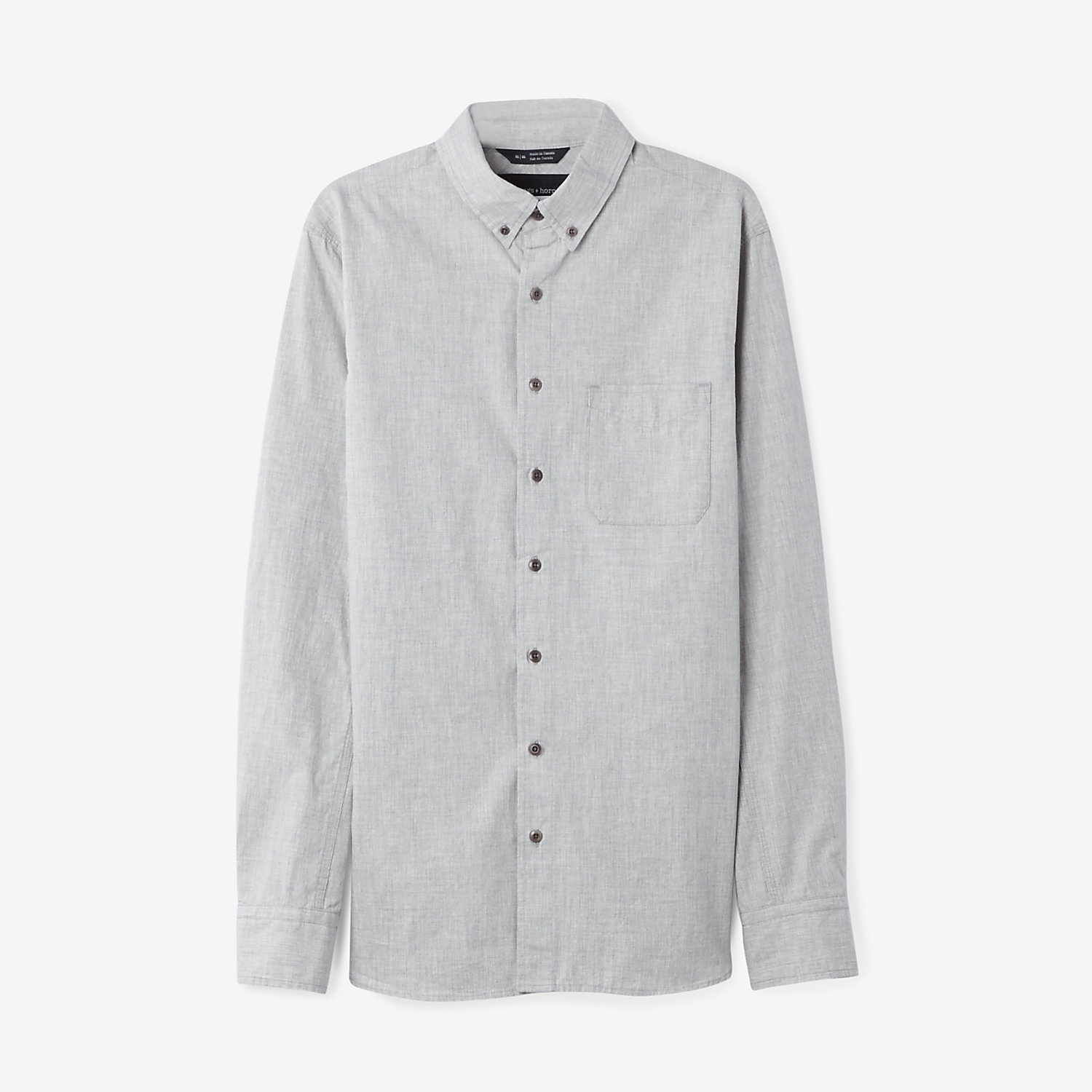 Wings horns ripstop button down shirt in gray for men for Mens grey button down dress shirt