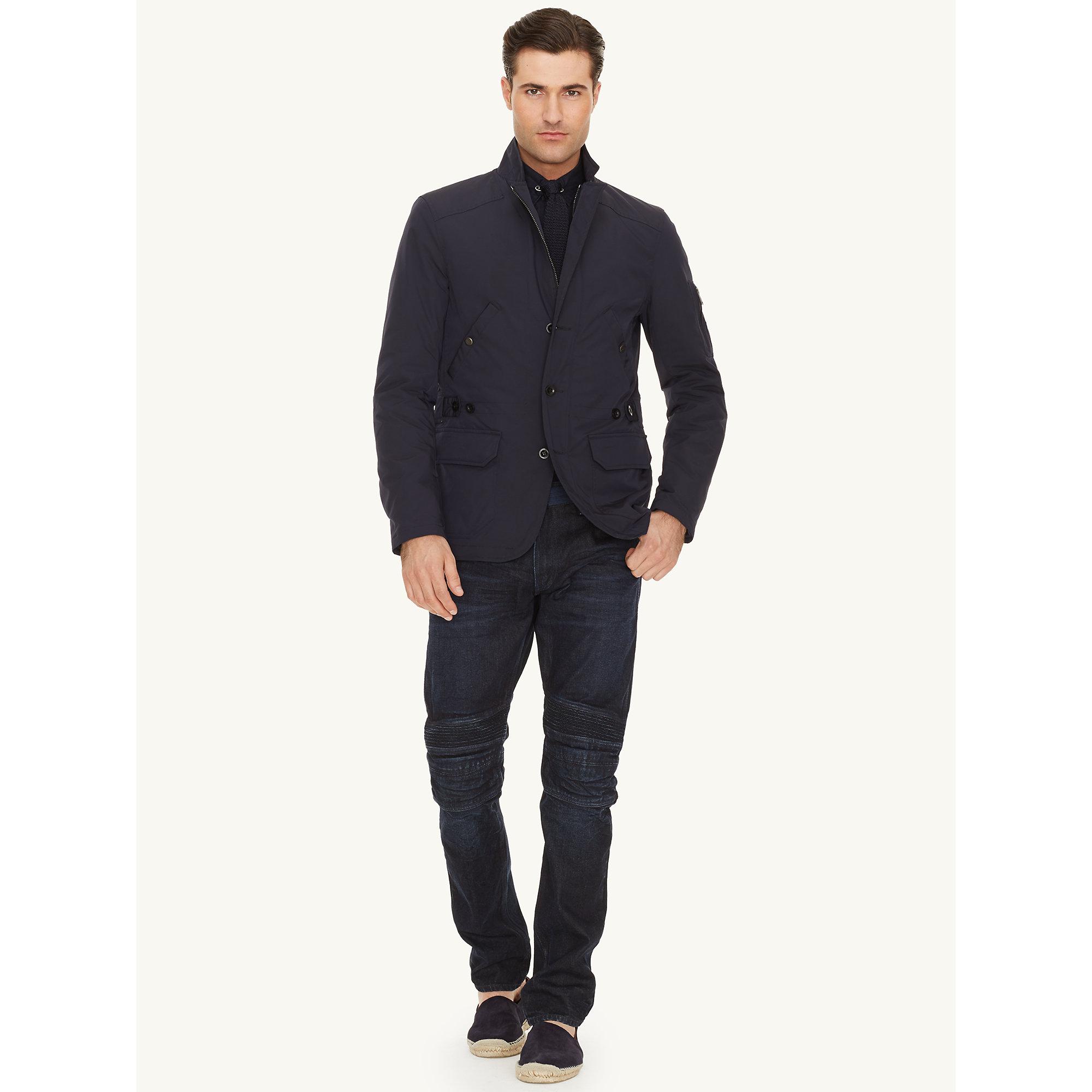 Ralph lauren black label Military Sport Coat in Black for Men | Lyst