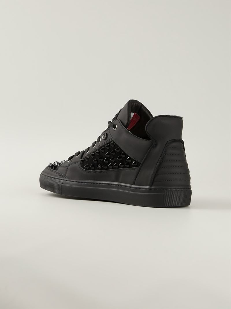 studded low top sneakers - Black Philipp Plein