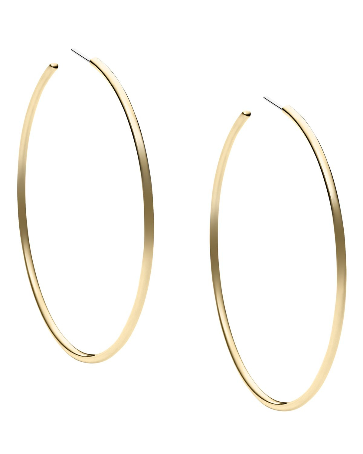 michael kors gold hoop earrings michael kors hoop earrings in gold lyst 2659