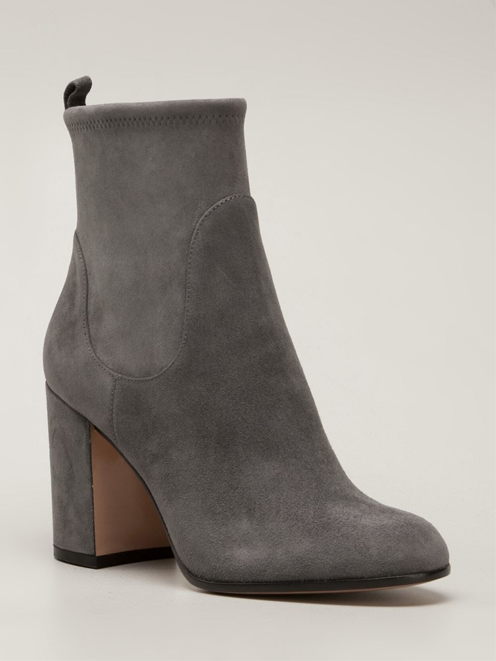 gianvito rossi ankle boots in gray grey lyst. Black Bedroom Furniture Sets. Home Design Ideas