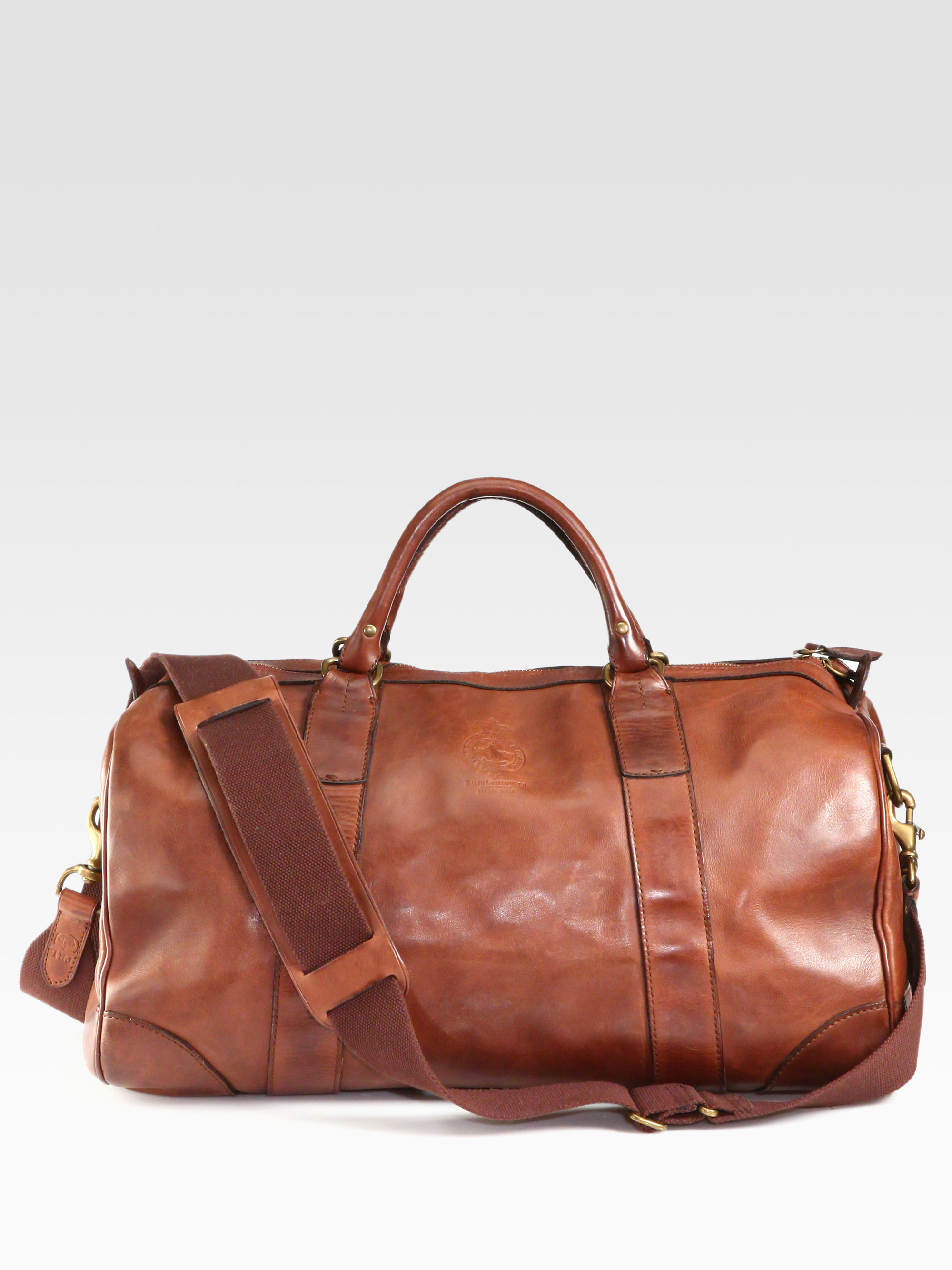 Lyst - Polo Ralph Lauren Leather Gym Bag in Brown for Men 9778f006bf585