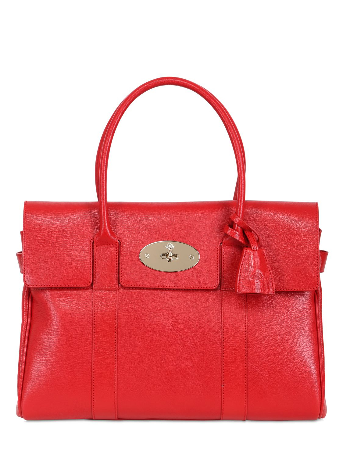 Mulberry Bayswater Leather Bag In Red Lyst