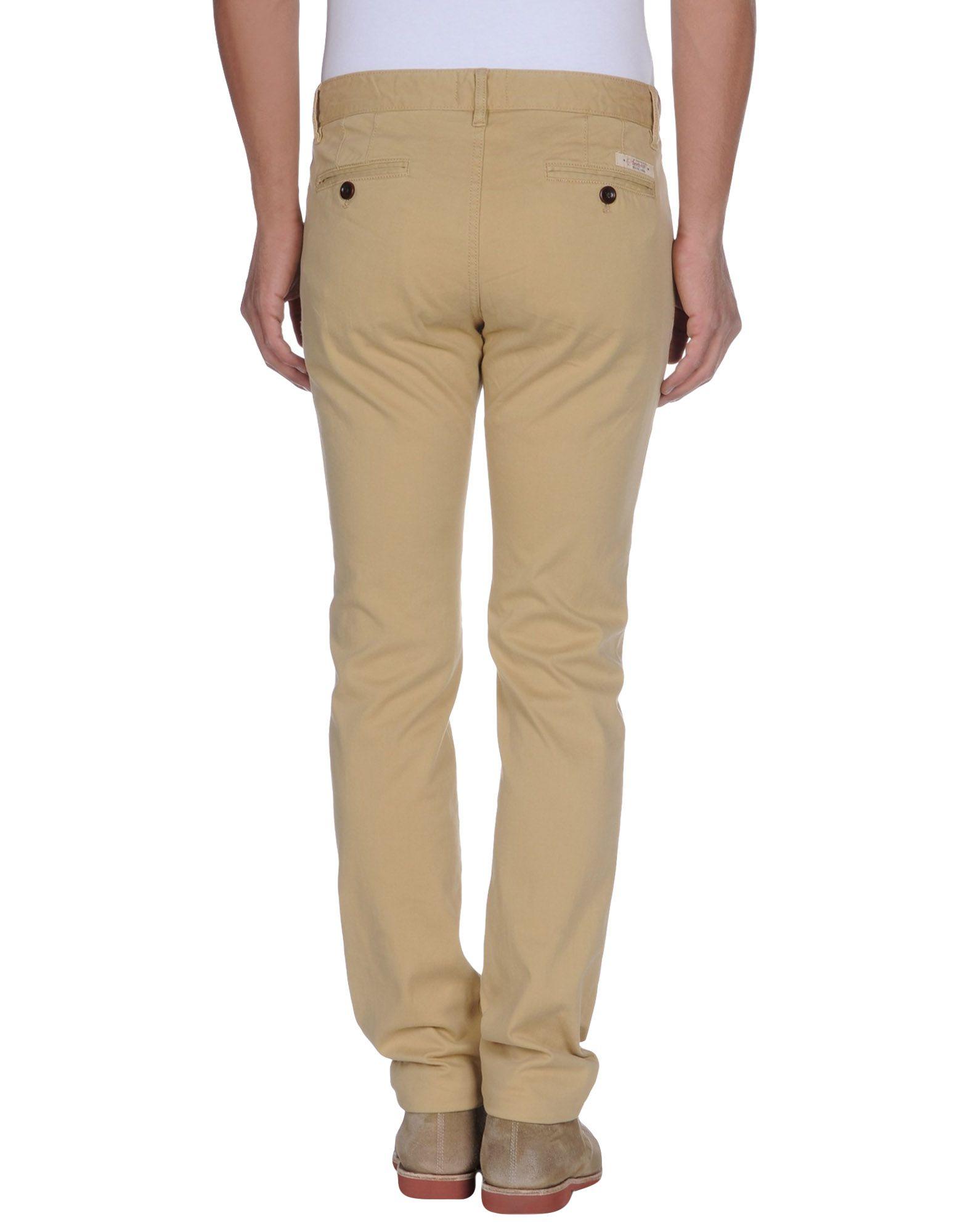 tommy hilfiger denim casual trouser in beige for men sand lyst. Black Bedroom Furniture Sets. Home Design Ideas