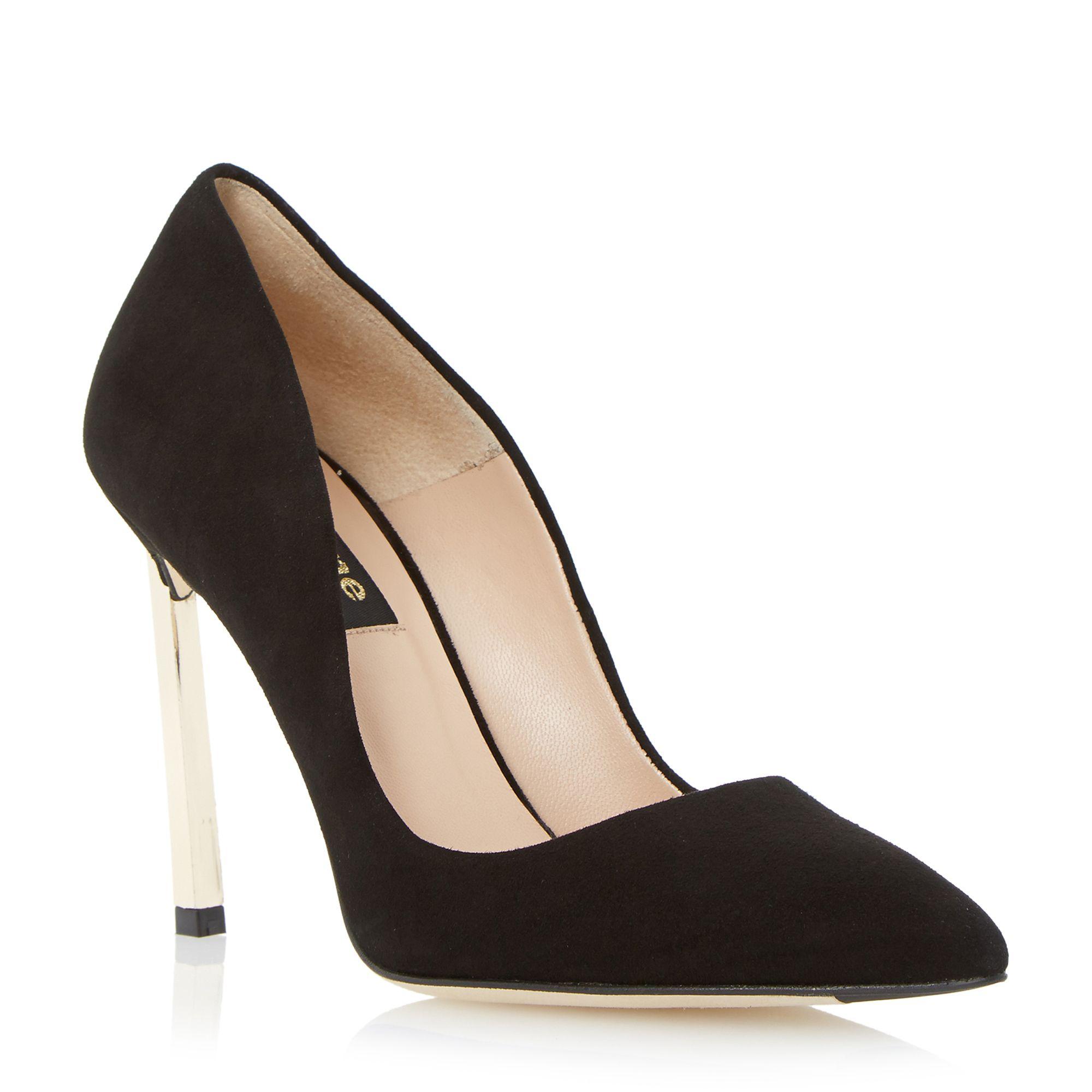 Court Shoe Blush Heel