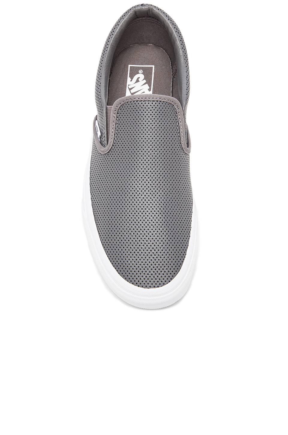 9a76a9ac0ef0 Lyst - Vans Classic Slip-On Perforated Leather in Gray for Men