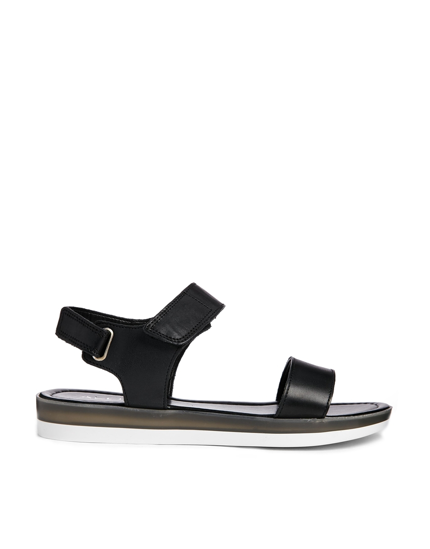 907616050ad Lyst - ALDO Valliera Two Piece Flatform Sandals in Black