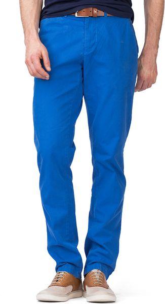 tommy hilfiger mercer chino in blue for men turkish sea. Black Bedroom Furniture Sets. Home Design Ideas