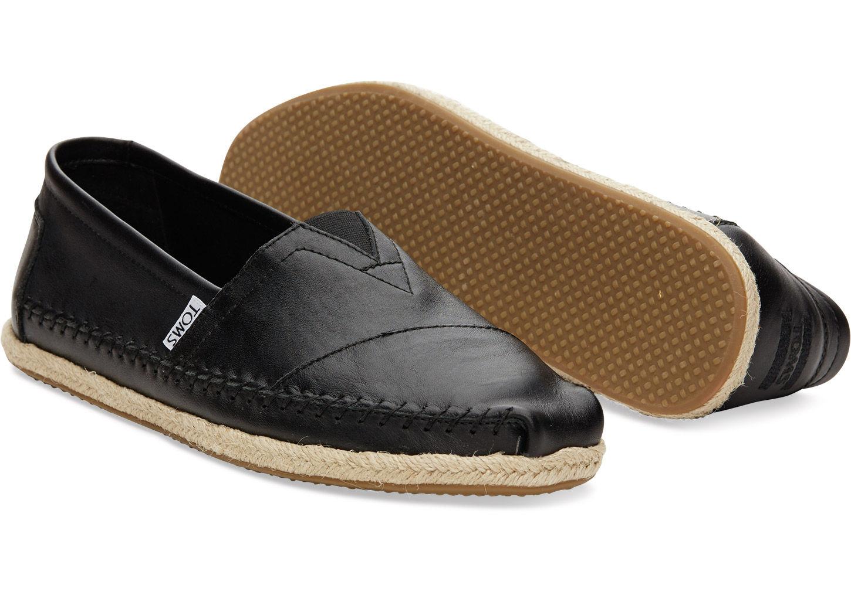 TOMS Men's Classic Nubuck Leather Espadrilles 9nkEat