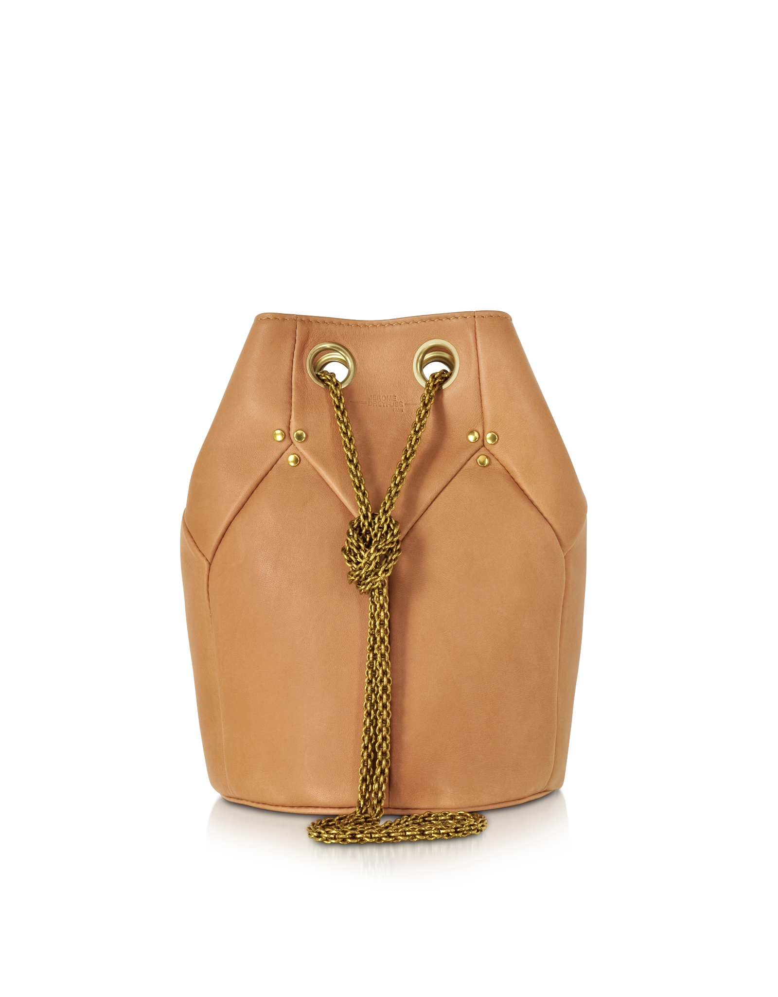 555741782e1a Jérôme Dreyfuss Popeye Nude Leather Bucket Bag in Brown - Lyst