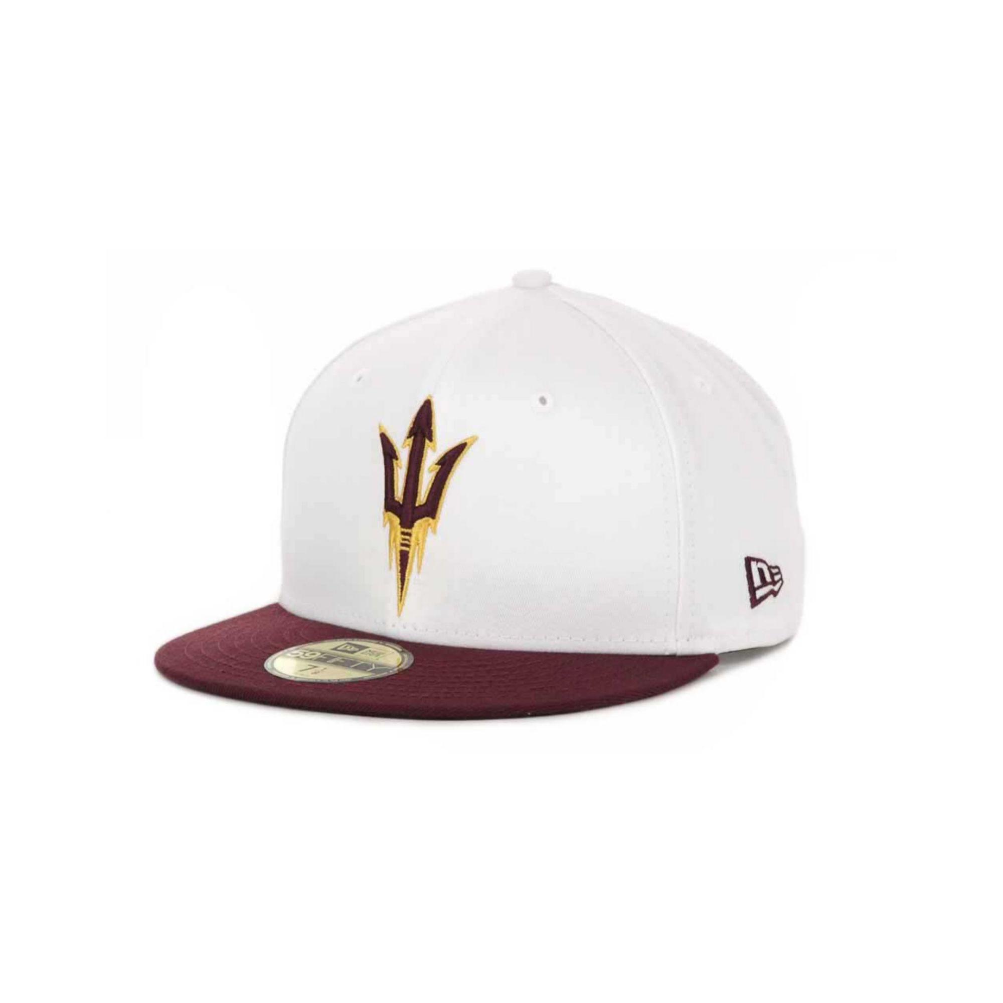 Lyst - KTZ Arizona State Sun Devils Ncaa White 2 Tone 59fifty Cap in ... 3dff6c07241c