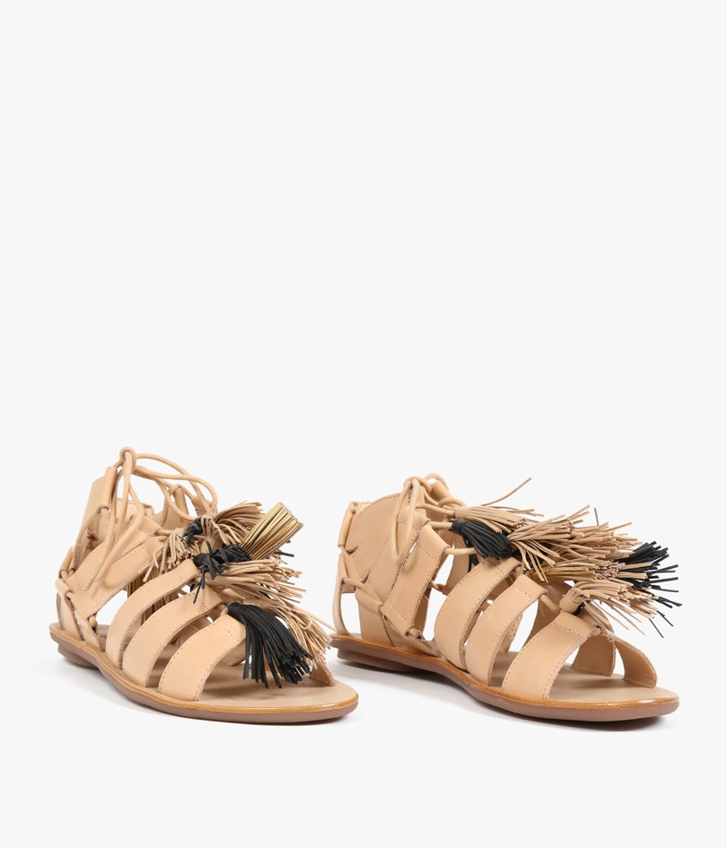 Natural Colored Gladiator Sandals