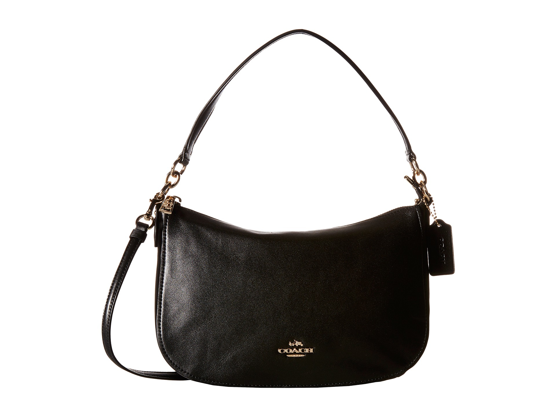d6ac97f558 france coach chelsea crossbody in pebble leather dark antique nickel rouge  ebe5b 3dc92  best price lyst coach chelsea crossbody in black 558c3 4b078
