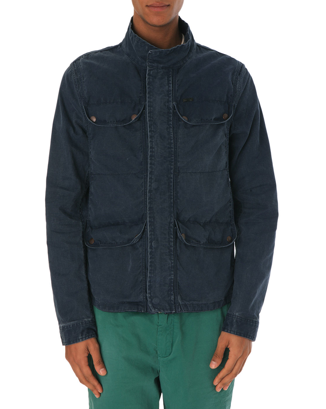 scotch soda multipocket navy parka in blue for men navy. Black Bedroom Furniture Sets. Home Design Ideas