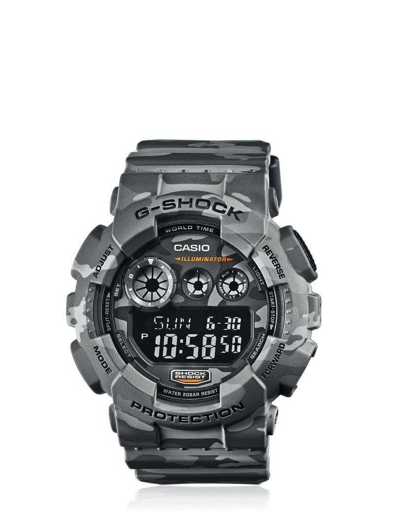 g shock absolute grey camouflage digital watch in gray for. Black Bedroom Furniture Sets. Home Design Ideas