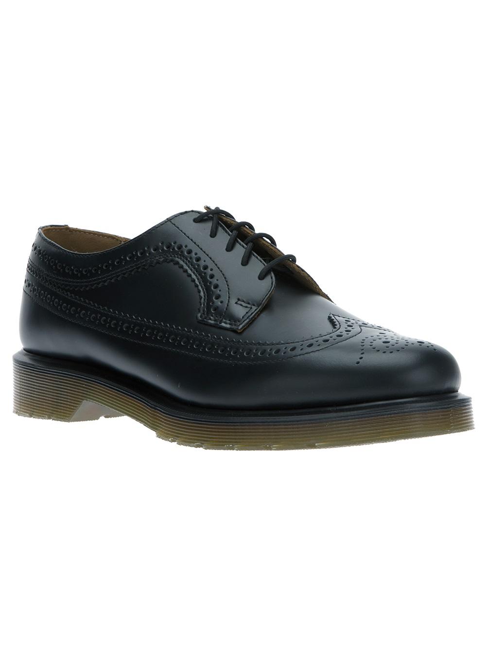 dr martens 3989 brogue shoe in black lyst