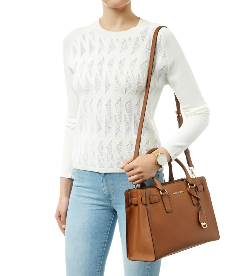 4f62a65b6eccb1 MICHAEL Michael Kors Dillon East West Satchel in Brown - Lyst