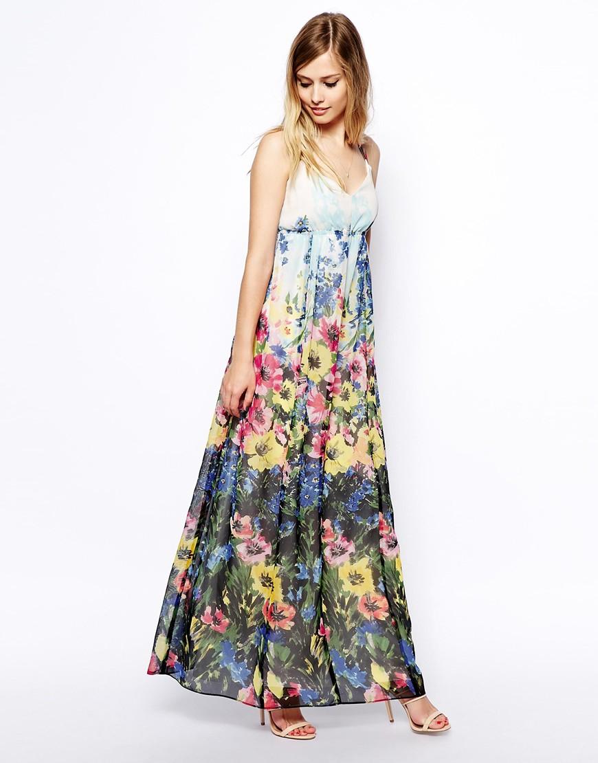 Asos Floral Maxi Dress Lyst