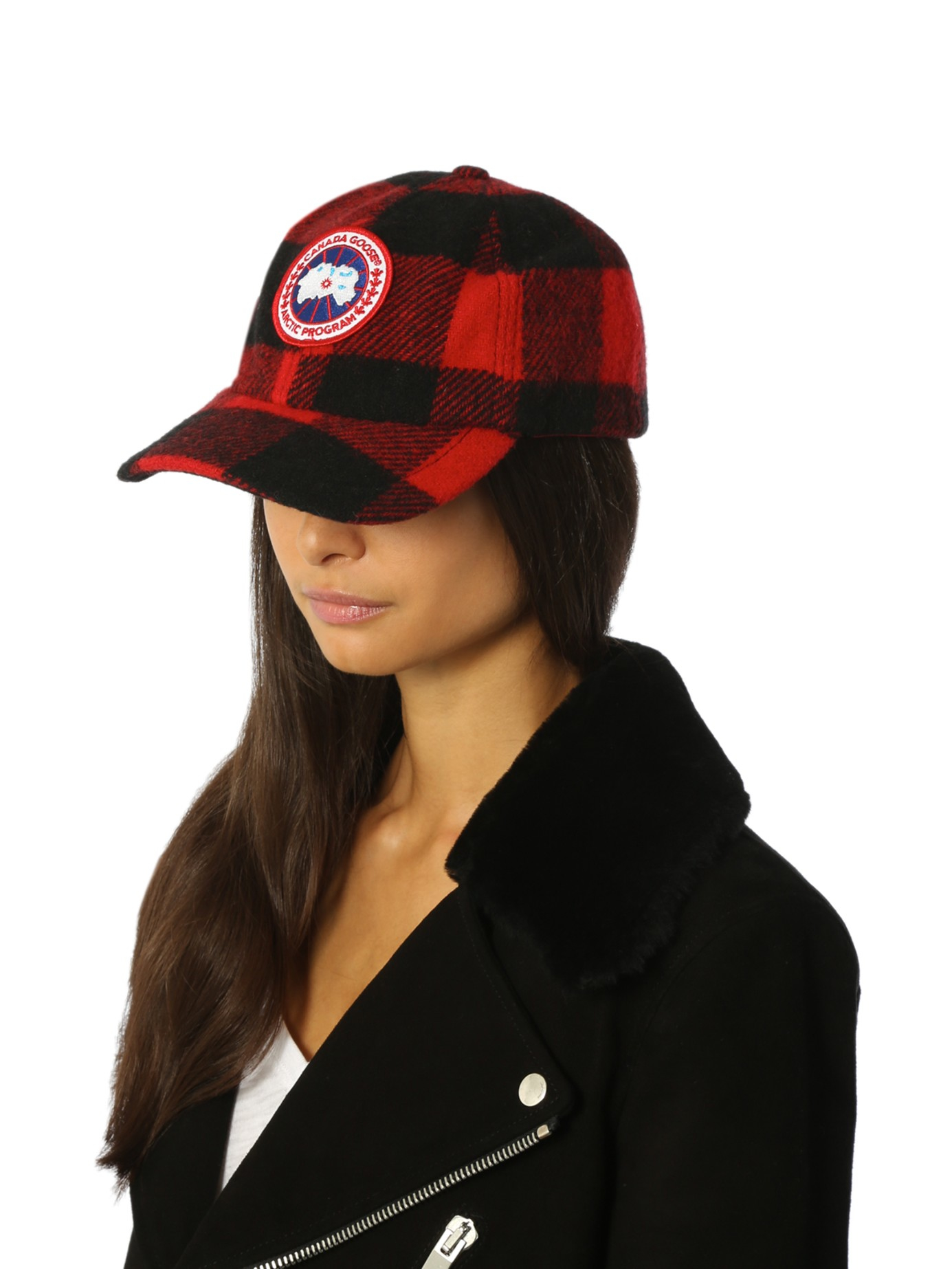 f52e2186760 Lyst - Canada Goose Plaid Wool-blend Hat in Black