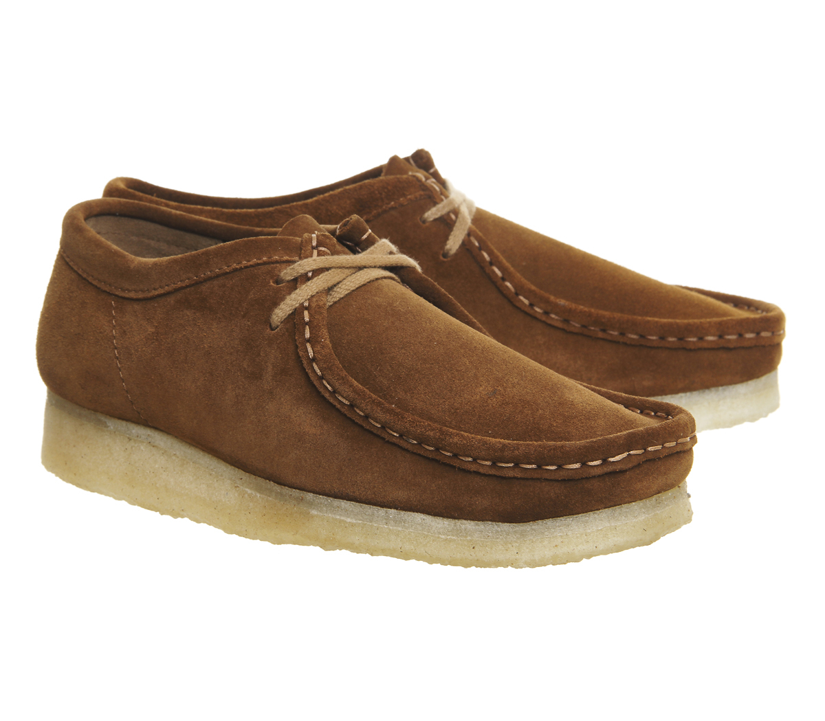 clarks wallabee shoes in brown for lyst