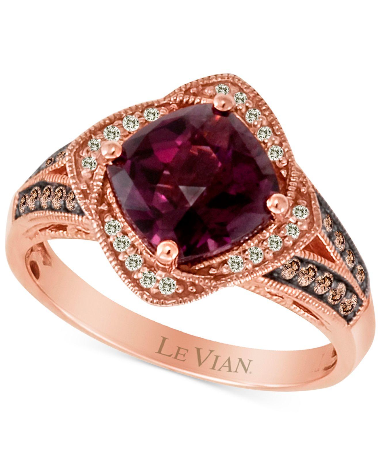 Le vian Raspberry Rhodolite (2-3/8 Ct. T.w.) And Diamond ...