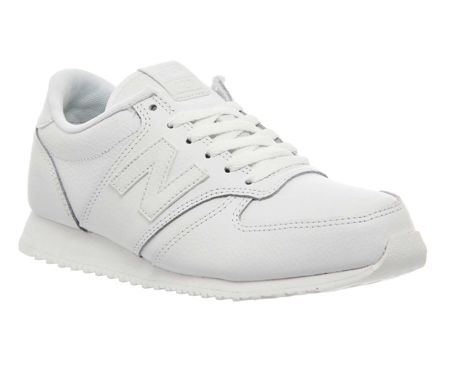 New Balance White Leather Shoes