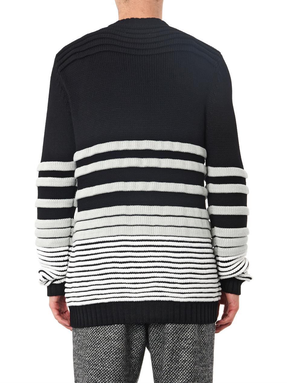 Public school Rippled-Knit Cardigan in Black for Men Lyst